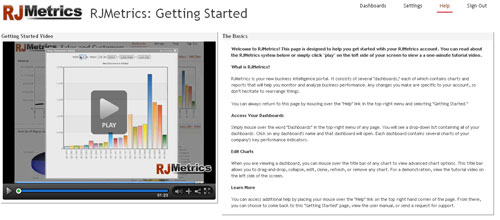 """The new """"Getting Started"""" page"""