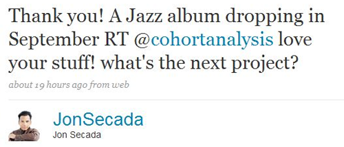Cuban Singer/Songwriter Jon Secada (96k followers)