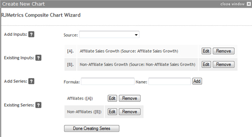 Build your series using custom formulas